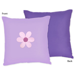 Danielle's Daisies Decorative Accent Throw Pillow by Sweet Jojo Designs