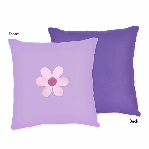 Danielle's Daisies Decorative Accent Throw Pillow by Sweet Jojo Designs - Click to enlarge