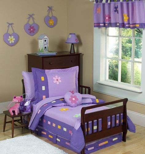 Danielle's Daisies Toddler Bedding - 5 pc set - Click to enlarge