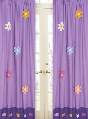 Danielle's Daisies Window Treatment Panels - Set of 2 - Click to enlarge