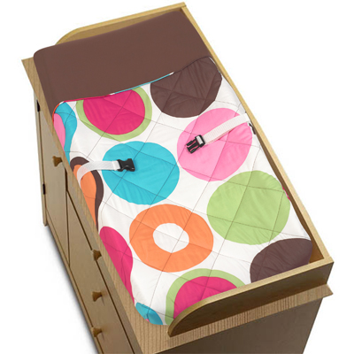 Deco Dot Baby Changing Pad Cover - Click to enlarge