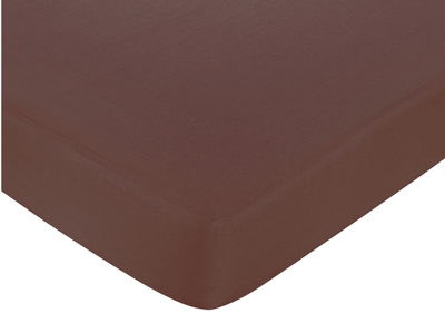 Deco Dot Fitted Crib Sheet for Baby/Toddler Bedding - Chocolate Brown - Click to enlarge