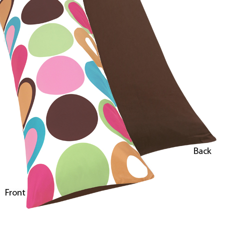 Deco Dot Full Length Double Zippered Body Pillow Case Cover by Sweet Jojo Designs - Click to enlarge