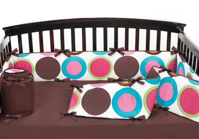 Deco dot modern baby crib bumper pad by sweet jojo designs only - Deco babybed ...