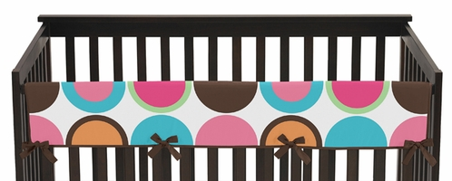 Deco dot modern baby crib long rail guard cover by sweet jojo designs only - Deco babybed ...