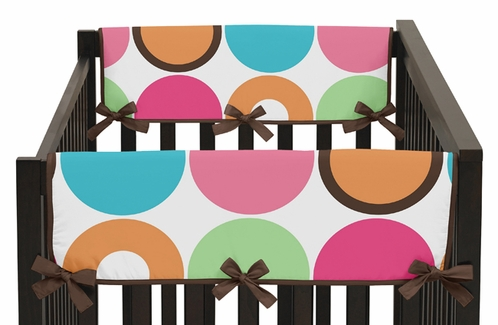 Deco dot modern baby crib side rail guard covers by sweet jojo designs set of 2 only - Deco babybed ...