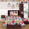 Deco Dot Modern Childrens and Teen Bedding Set - 4 pc Twin Set