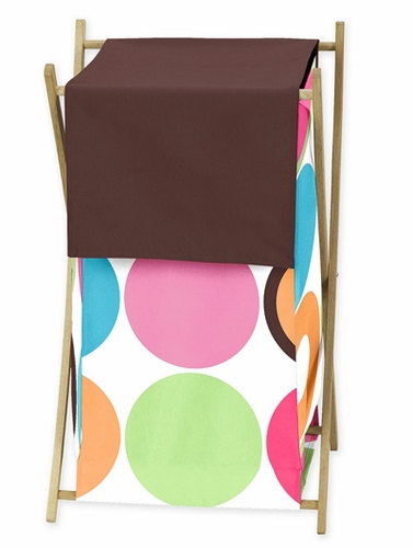 Deco Dot Modern Childrens Kids Clothes Laundry Hamper by Sweet Jojo Designs - Click to enlarge