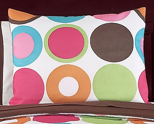 Deco Dot Modern Girls Pillow Sham - Click to enlarge