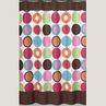 Deco Dot Modern Kids Bathroom Fabric Bath Shower Curtain