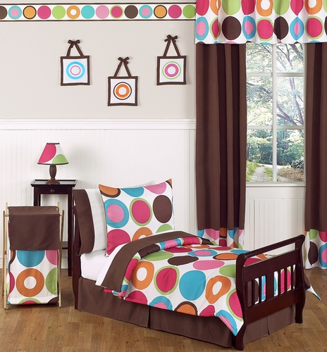 Deco dot modern kids toddler bedding 5pc set only - Deco babybed ...