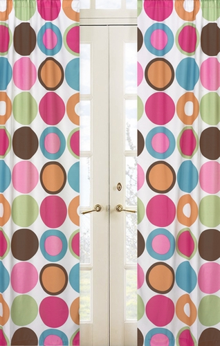 Deco Dot Modern Window Treatment Panels - Set of 2 - Click to enlarge
