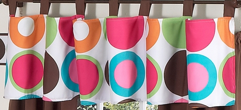 Deco Dot Modern Window Valance by Sweet Jojo Designs - Click to enlarge