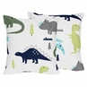 Decorative Accent Throw Pillows for Blue and Green Mod Dinosaur Bedding Sets by Sweet Jojo Designs - Set of 2