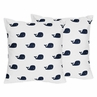 Decorative Accent Throw Pillows for Blue Whale Collection by Sweet Jojo Designs - Set of 2