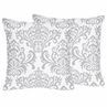 Decorative Accent Throw Pillows for Damask Bedding Sets by Sweet Jojo Designs - Set of 2