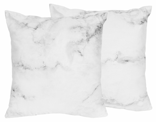 Decorative accent throw pillows for grey black and white for Black and white marble bedding