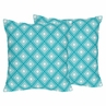 Decorative Accent Throw Pillows for Mod Elephant Bedding by Sweet Jojo Designs - Set of 2