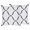 Decorative Accent Throw Pillows for Purple, Black and White Princess Collection - Set of 2