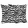 Decorative Accent Throw Pillows for Zebra Bedding Sets by Sweet Jojo Designs - Set of 2
