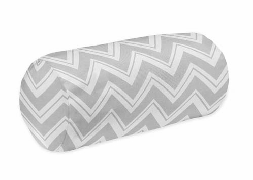 Decorative Neckroll Bolster Pillow For Pink And Gray Chevron Zig Zag