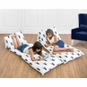 Navy and White Woodland Deer Forest Animal Kids Teen Floor Pillow Case Lounger Cushion Cover by Sweet Jojo Designs