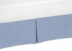 Denim Blue Crib Bed Skirt for Baby Bedding Sets by Sweet Jojo Designs