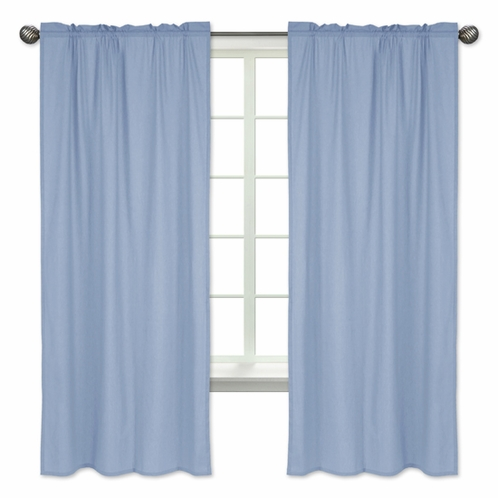 Denim Blue Window Treatment Panels by Sweet Jojo Designs - Set of 2 - Click to enlarge