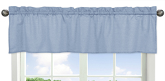 Denim Blue Window Valance by Sweet Jojo Designs