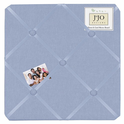 Denim Fabric Memory/Memo Photo Bulletin Board by Sweet Jojo Designs - Click to enlarge