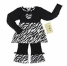 Designer 2pc Baby Girls Black and White Zebra Print Outfit by Sweet Jojo Designs