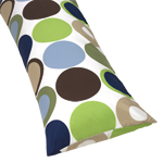 Designer Dot Full Length Double Zippered Body Pillow Case Cover  by Sweet Jojo Designs