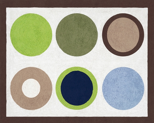 Designer Dot Modern Accent Floor Rug by Sweet Jojo Designs - Click to enlarge