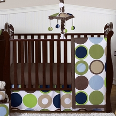 Designer Dot Modern Baby Boys Bedding by Sweet Jojo Designs - 4pc Crib Set
