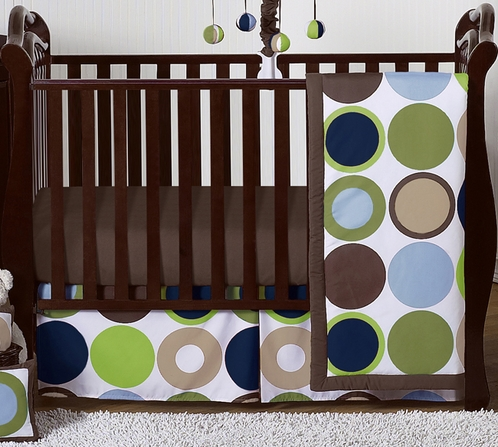 Designer Dot Modern Baby Boys Bedding by Sweet Jojo Designs - 4pc Crib Set - Click to enlarge