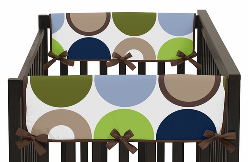 Designer Dot Modern Baby Crib Side Rail Guard Covers by Sweet Jojo Designs - Set of 2 - Click to enlarge