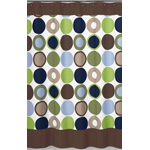 Designer Dot Modern Kids Bathroom Fabric Bath Shower Curtain by Sweet Jojo Designs