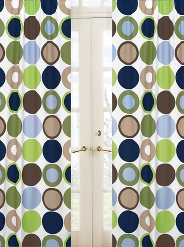 Designer Dot Modern Window Treatment Panels by Sweet Jojo Designs - Set of 2 - Click to enlarge
