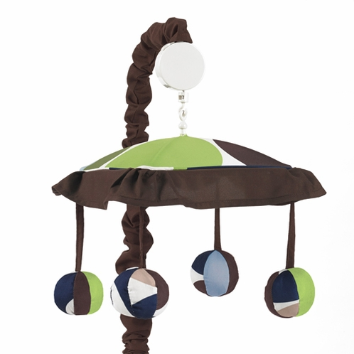 Designer Dot Musical Baby Crib Mobile by Sweet Jojo Designs - Click to enlarge