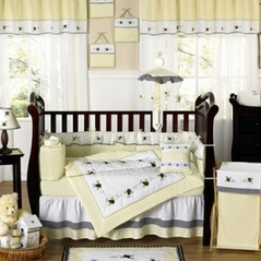 Designer Unique Bumble Bee Baby Bedding - 9 pc Crib Set