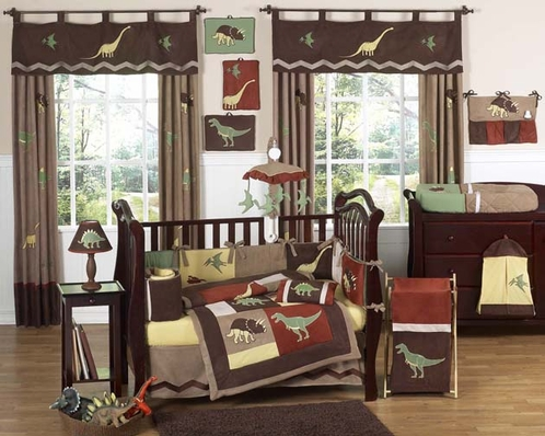 Dinosaur Baby Bedding - 9 pc Crib Set by Sweet Jojo Designs - Click to enlarge