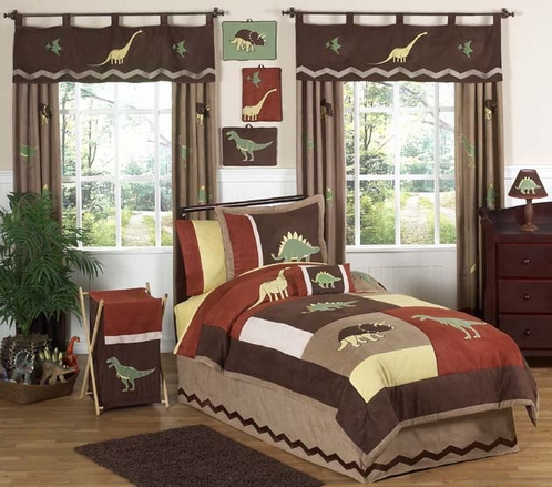 Dinosaur Childrens Bedding - 3 pc Full / Queen Set - Click to enlarge