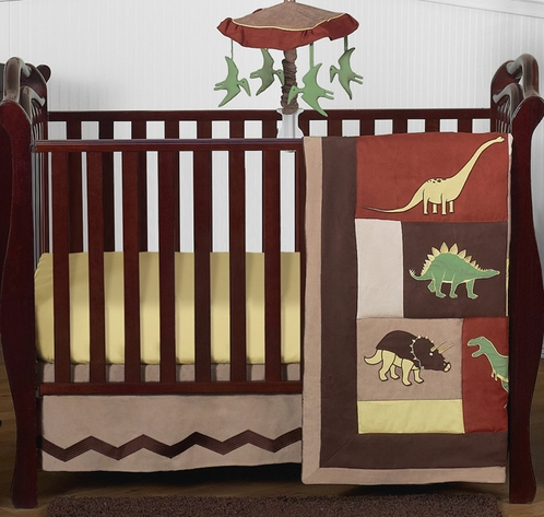 Dinosaur Baby Bedding 4pc Crib Set By Sweet Jojo Designs