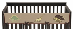 Dinosaur Baby Crib Long Rail Guard Cover by Sweet Jojo Designs