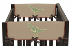 Dinosaur Baby Crib Side Rail Guard Covers by Sweet Jojo Designs - Set of 2