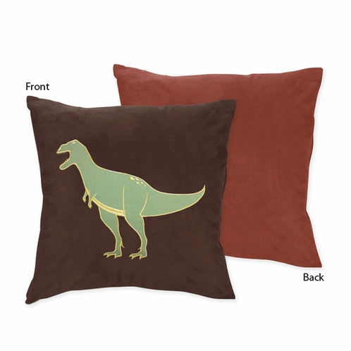 Dinosaur Decorative Accent Throw Pillow by Sweet Jojo Designs - Click to enlarge