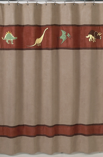 Dinosaur Kids Bathroom Fabric Bath Shower Curtain - Click to enlarge