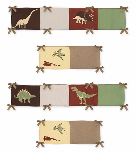 Dinosaur Land Collection Crib Bumper by Sweet Jojo Designs - Click to enlarge