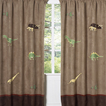 Dinosaur Window Treatment Panels - Set of 2