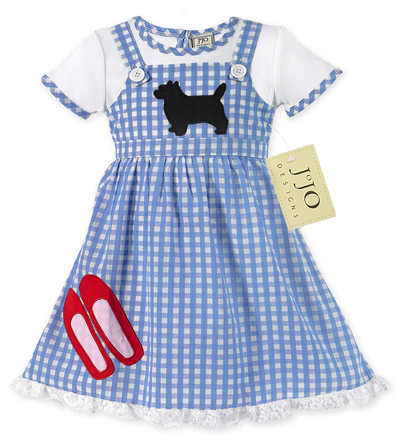 Dorothy Wizard of Oz Halloween Costume or Dress Up Outfit by Sweet Jojo Designs - Click to enlarge